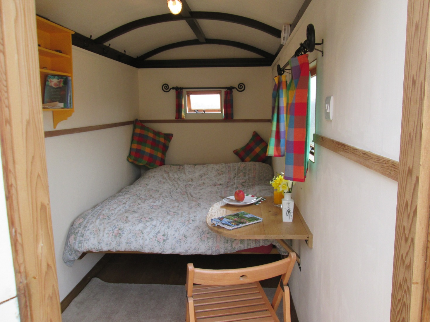 Bedroom in shepherds Hut